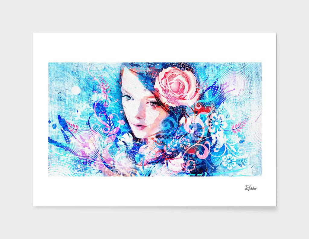 Artistic VI  - Girl Floral / NE