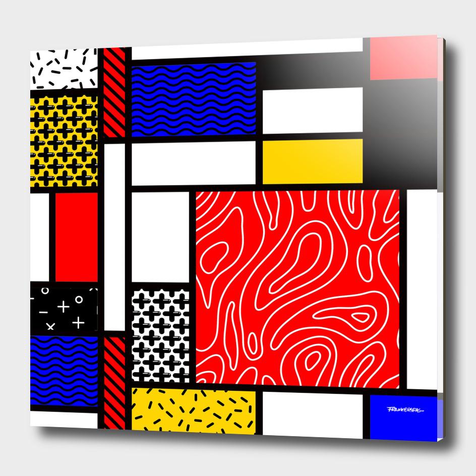 Mondrian in a Memphis Style II