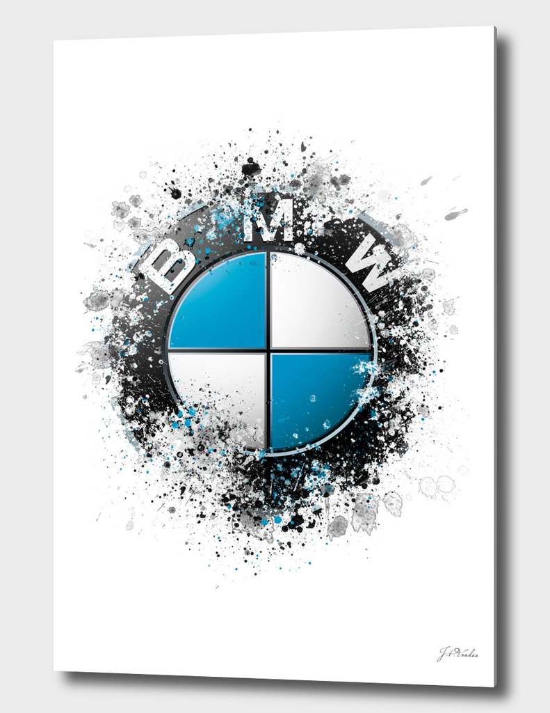 BMW Logo splatter painting