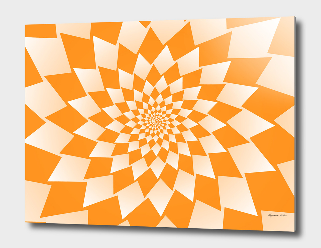 Geometric Orange Abstract