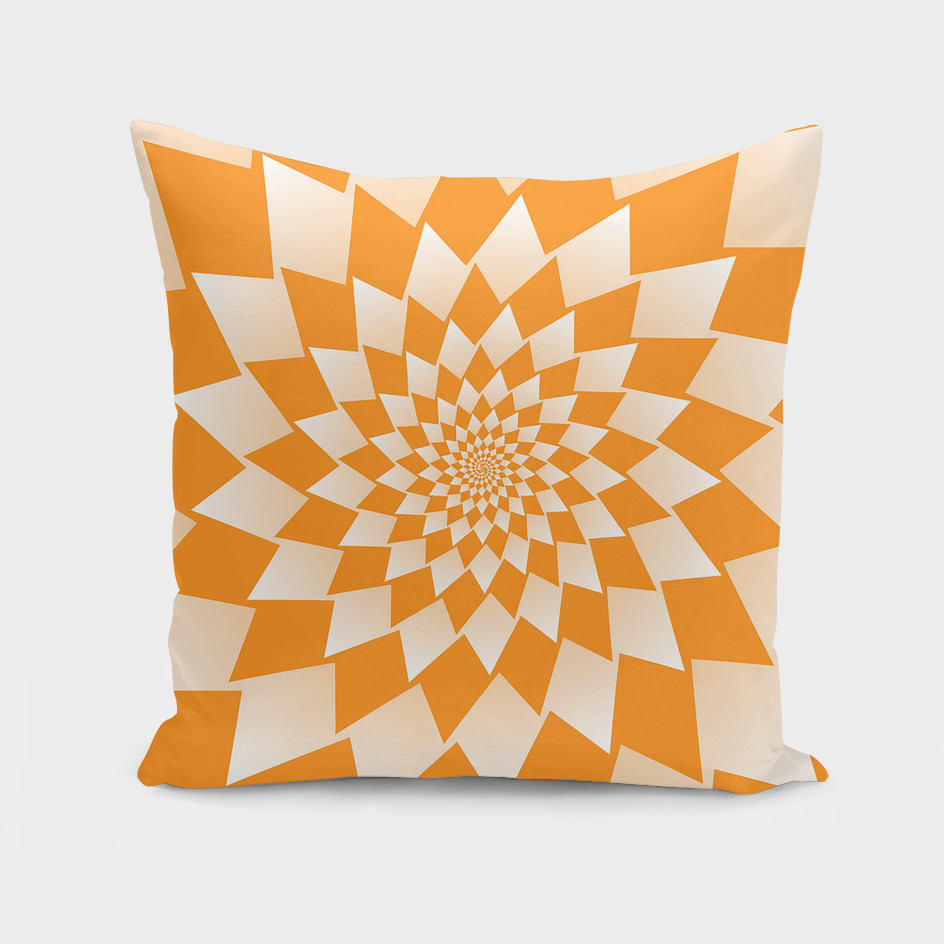 Geometric Orange Abstract