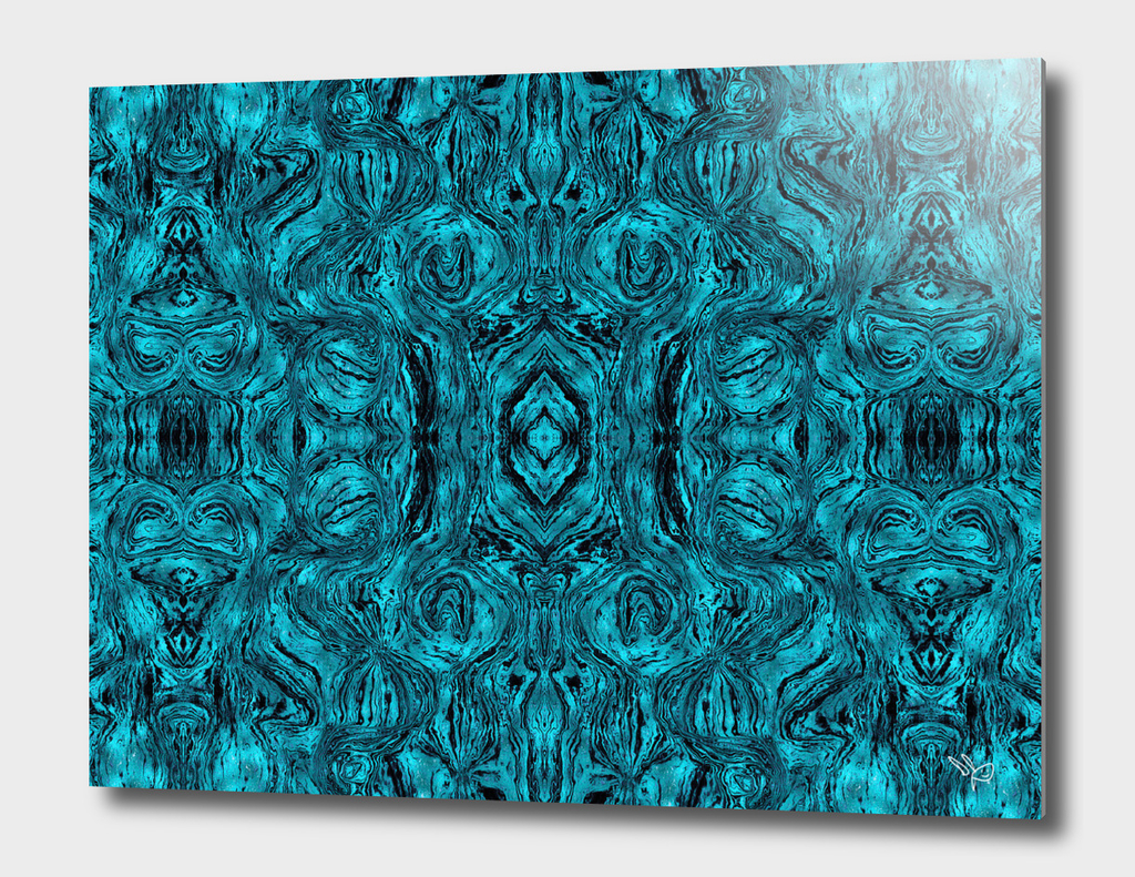 Blue Smoky Glass
