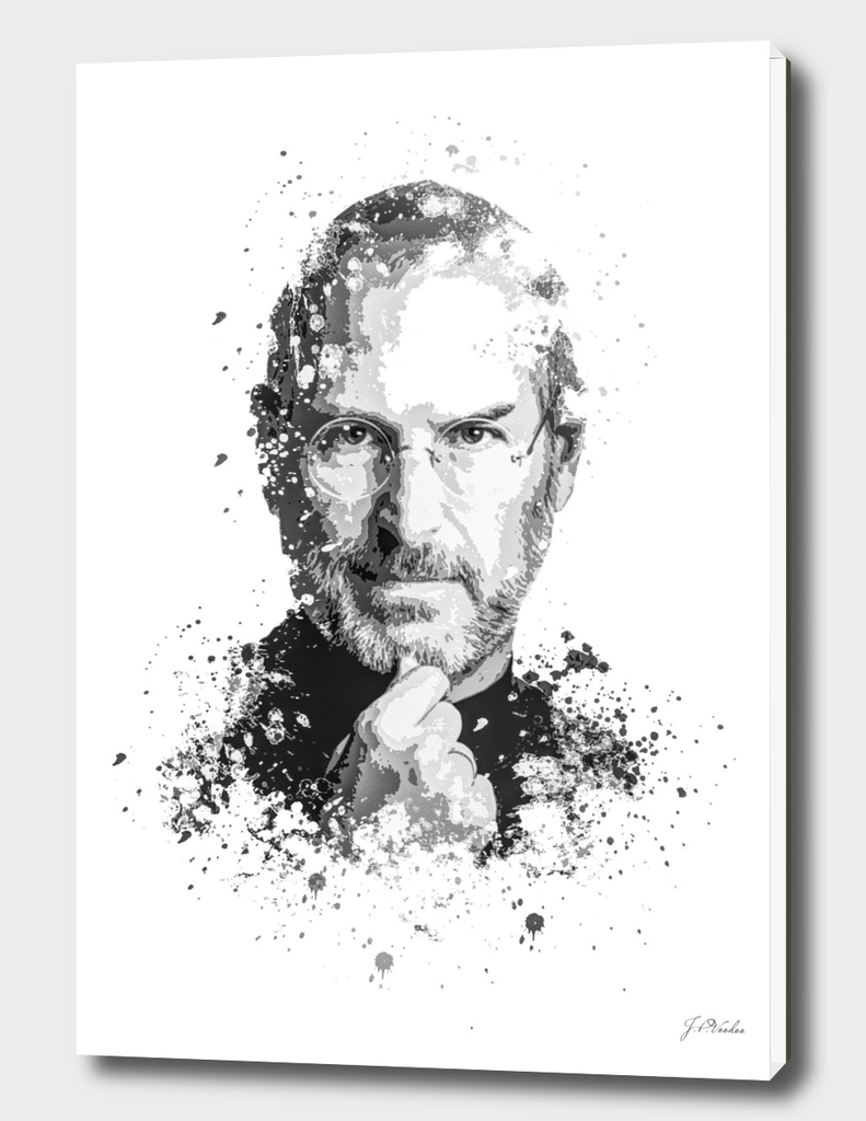 Steve Jobs splatter painting