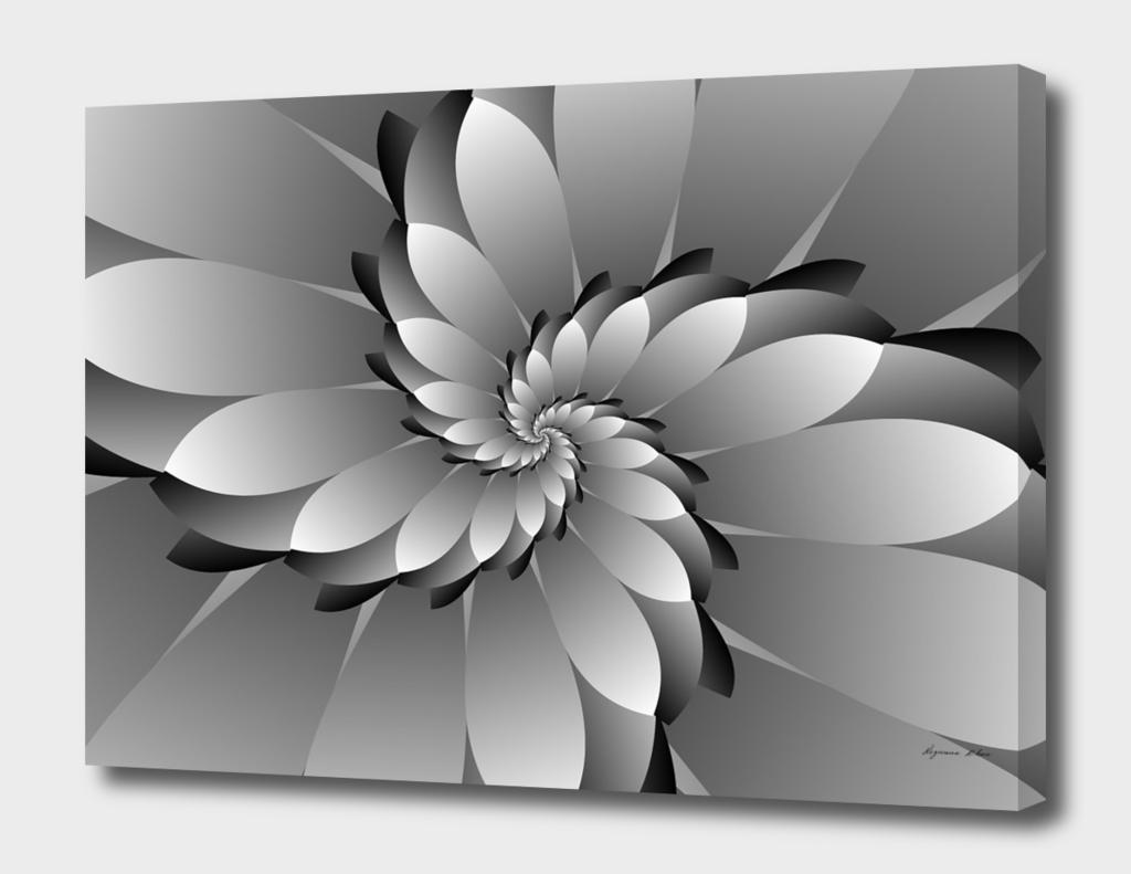 3D MONOCHROME Floral Design