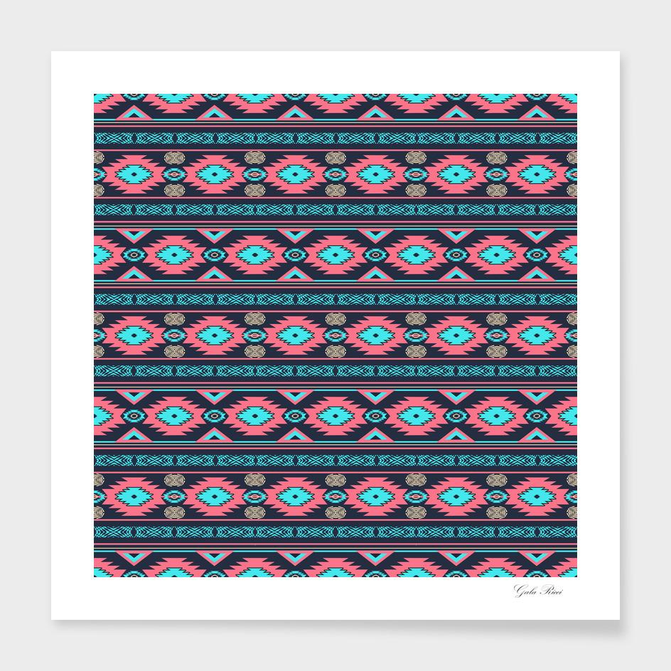Ethnìc southwestern navajo pattern.