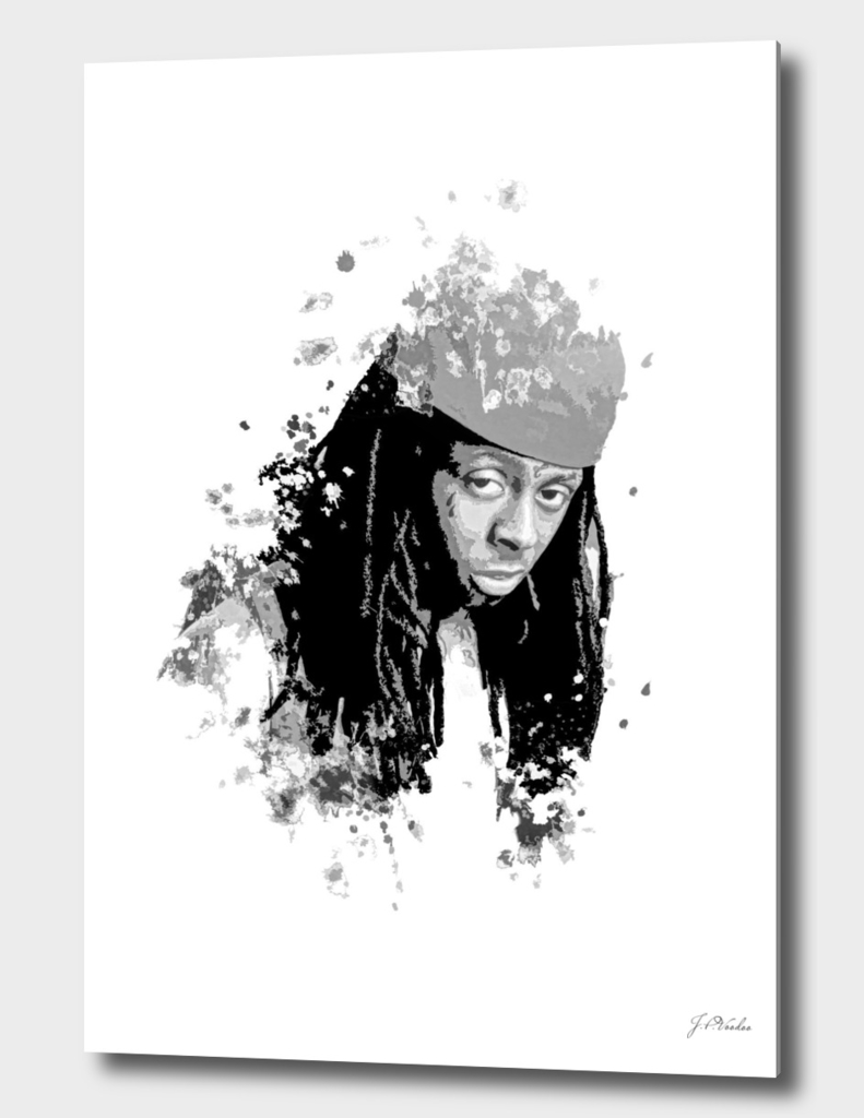 Lil Wayne splatter painting