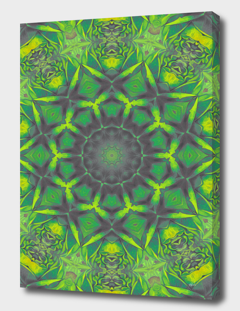 mandala green circle