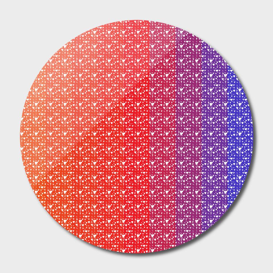Imperfect Hearts Spectrum Pattern - White/Spectrum4