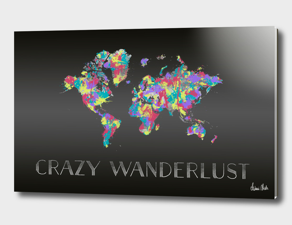Graphic Art CRAZY WANDERLUST | Splashes