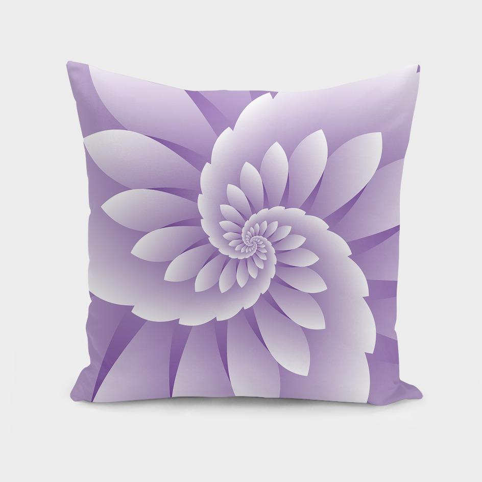 Abstract Purple Floral Design
