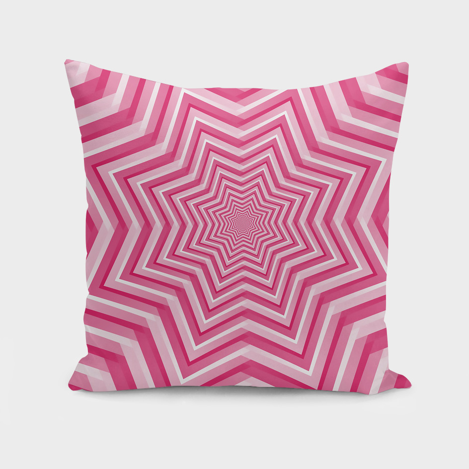Abstract Pink Geometric Design