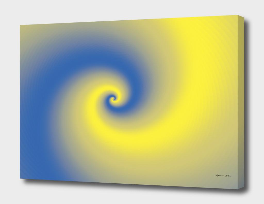 Yellow & Blue Spiral Design
