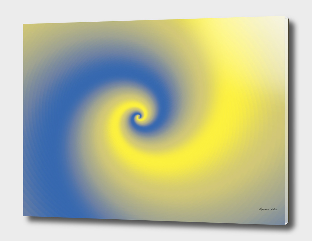 Yellow & Blue Spiral Design
