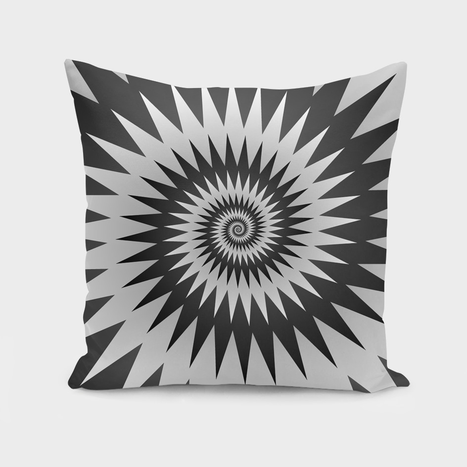 Black And White Geometric Spiral