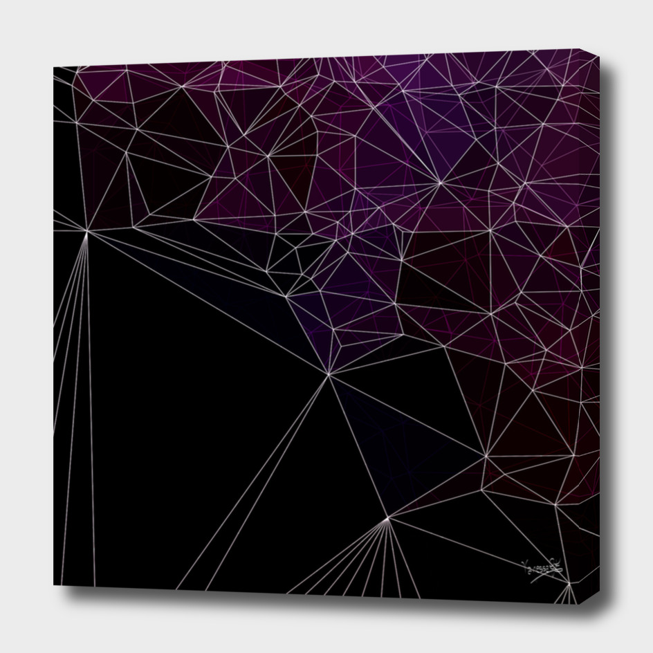 Polygonal purple and black
