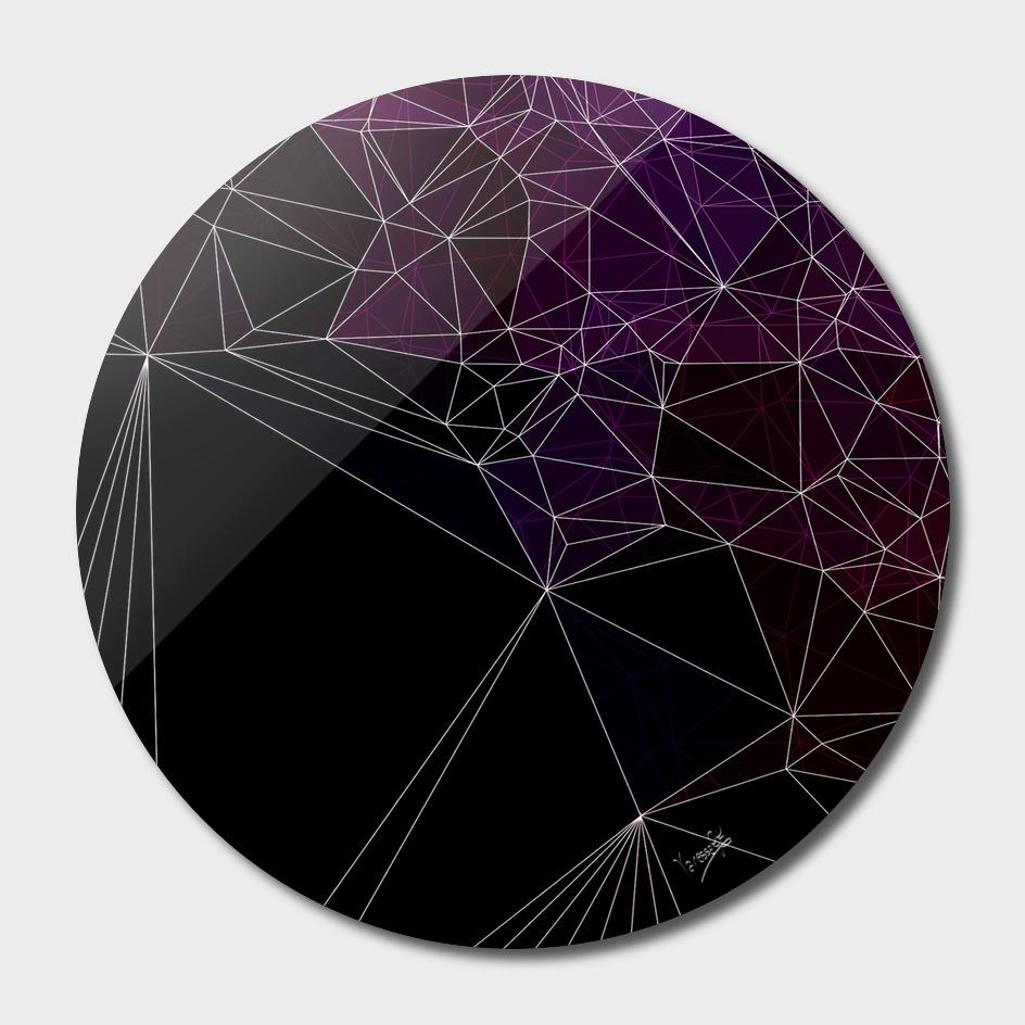 Polygonal purple and black
