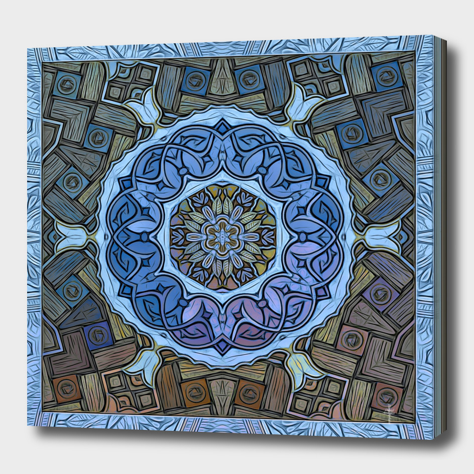 Mystic Sufi Mandala - The Blue Desert Rose