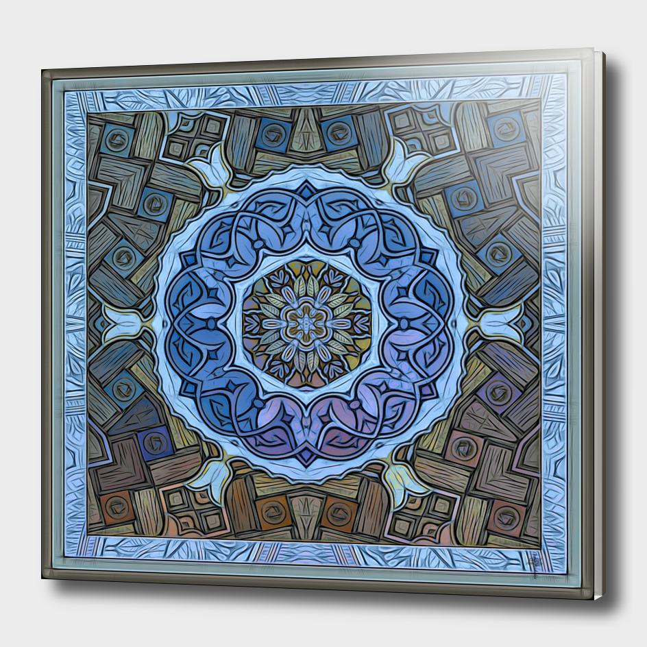 Mystic Sufi Mandala - The Blue Desert Rose