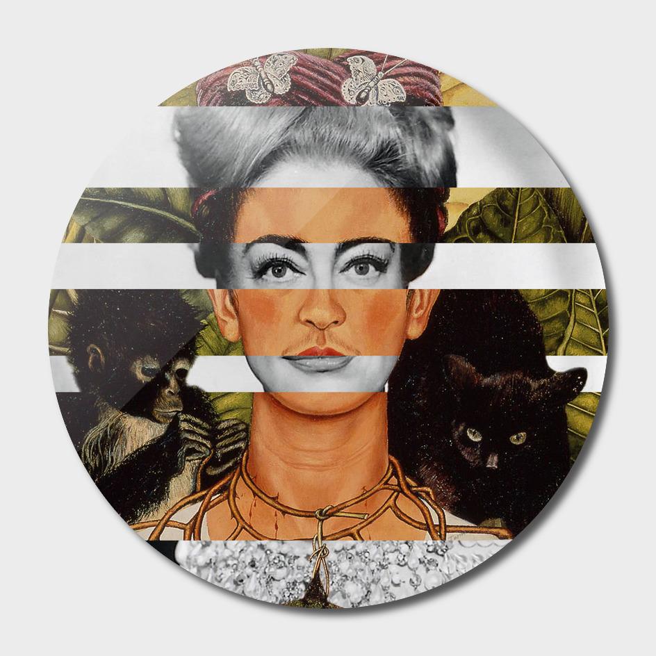 Frida Kahlo Self Portrait with Hummingbird & Joan Crawford