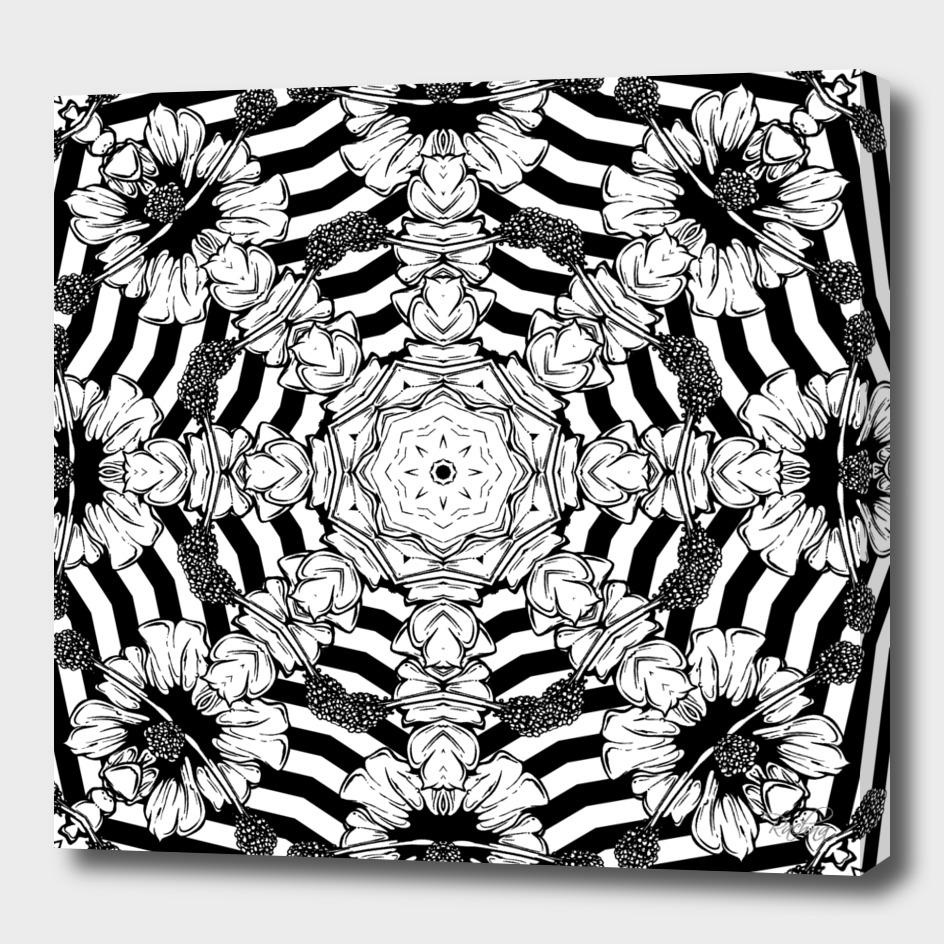 Optical Floral Illusion Mandala