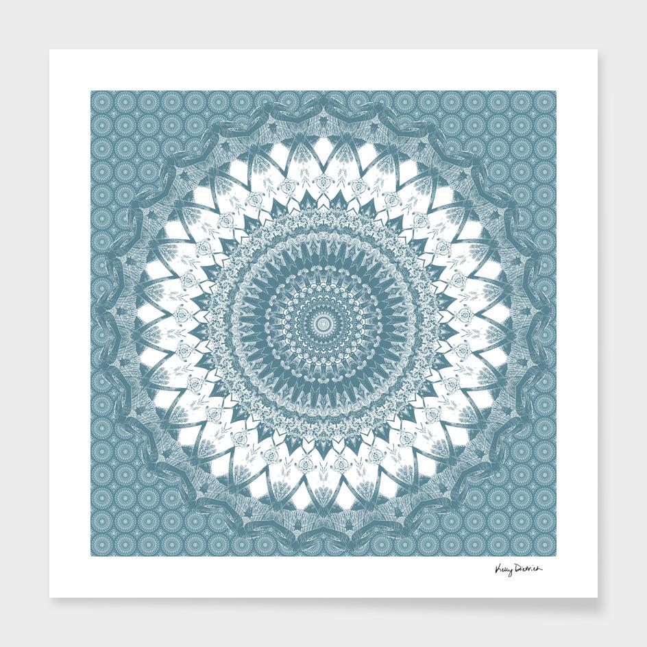 Boho Blue Mandala