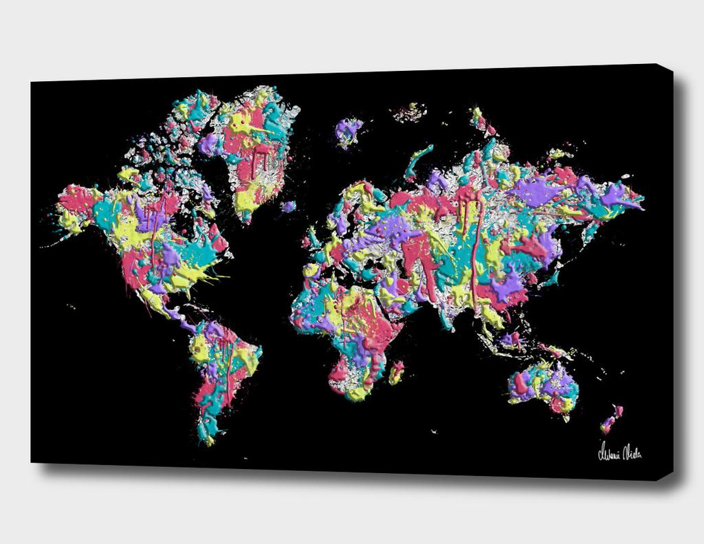 POP ART World Map | Splashes
