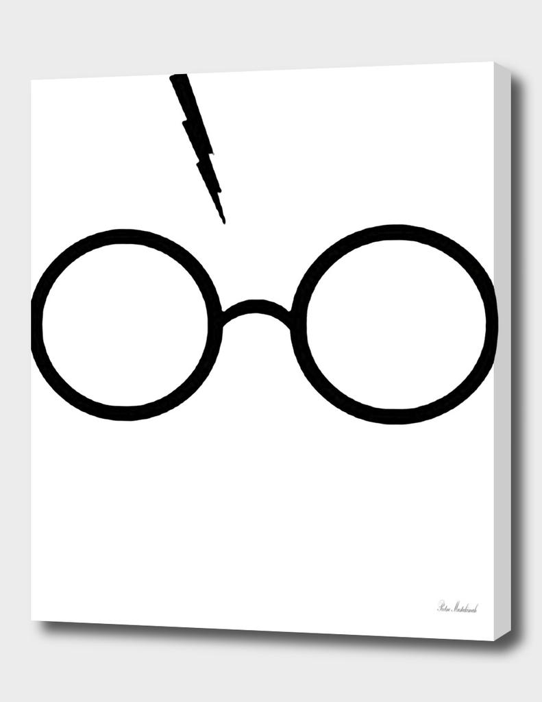 Harry Potter Inspired Lightning Glasses Symbol