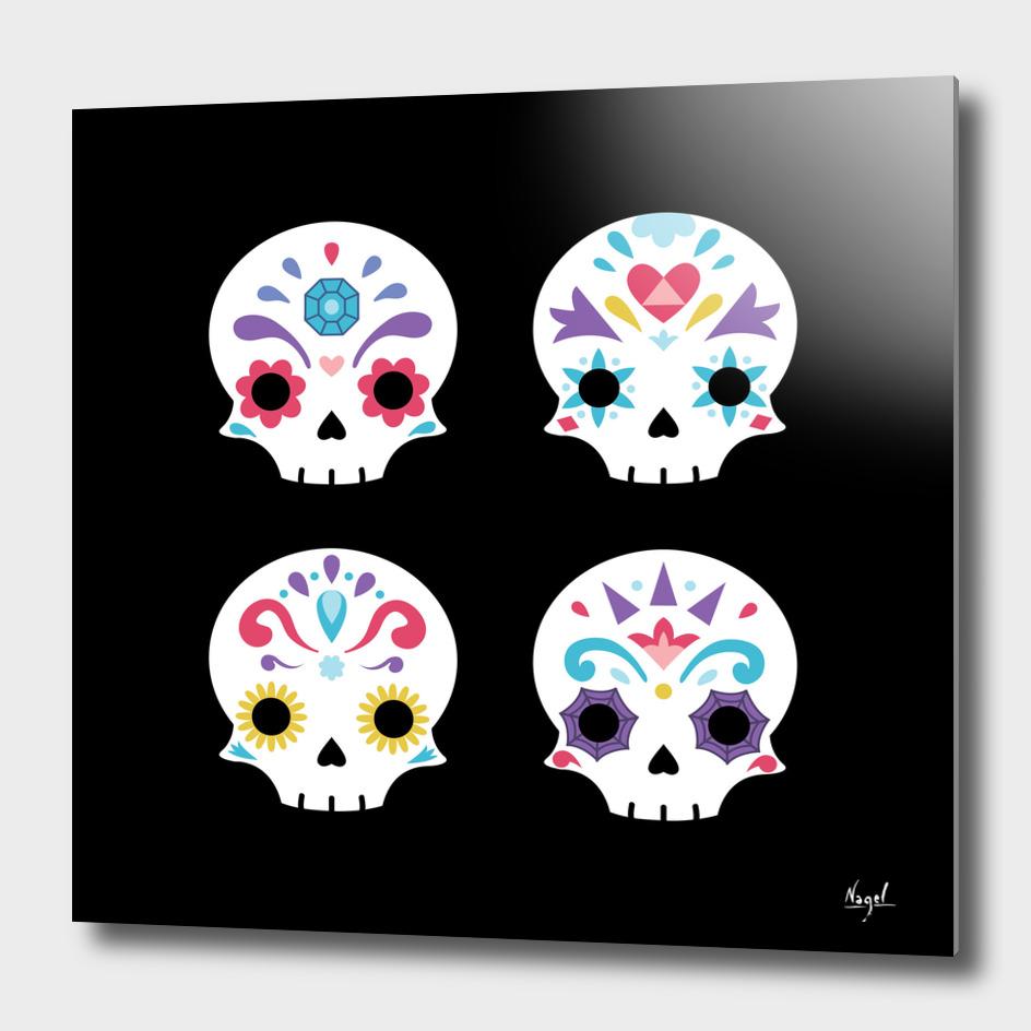 Cute sugar skulls
