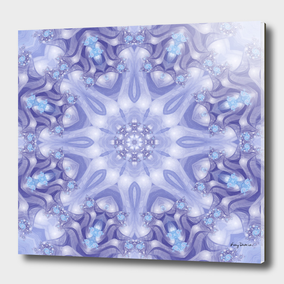 Light Blue and Lavender Mandala