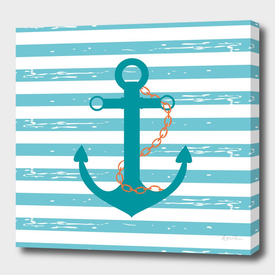 AFE Nautical Teal Ship anchor