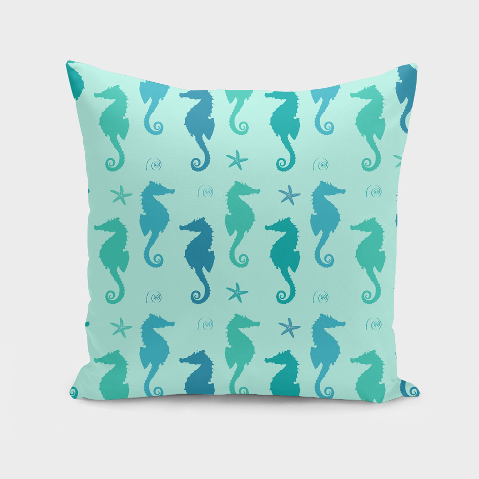 AFE Mint Seahorse Pattern
