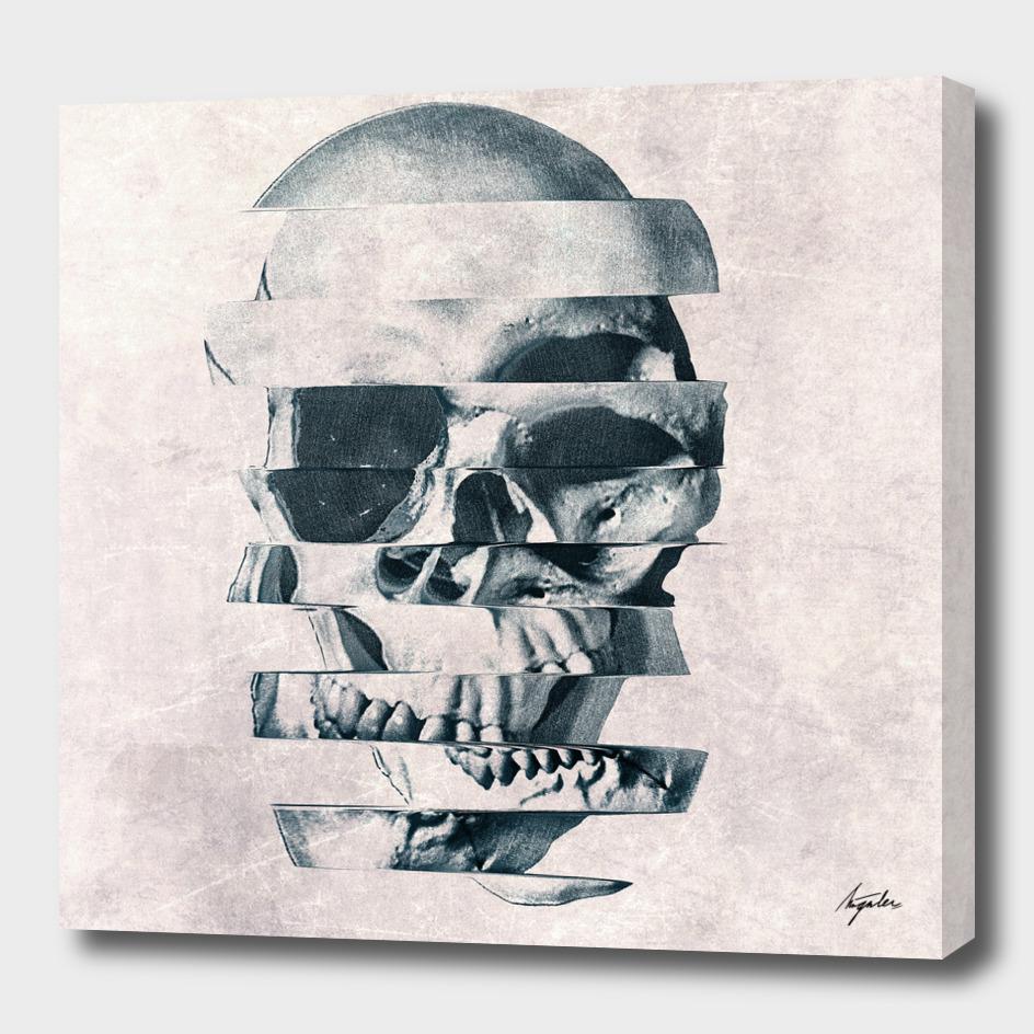 Glitch Skull Mono