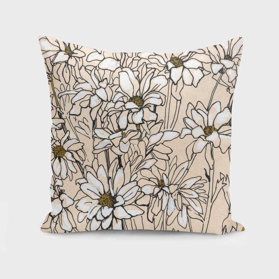 Chrysanthemum, ink sketch
