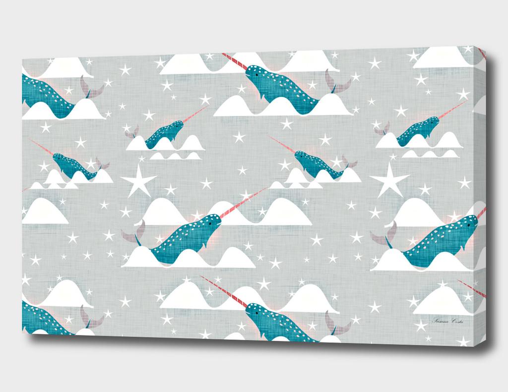 Sea unicorn - Narwhal grey
