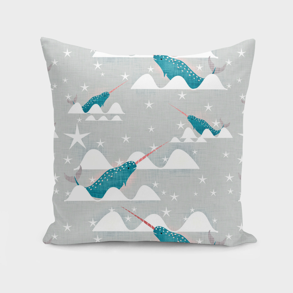 Sea unicorn - Narwhal grey