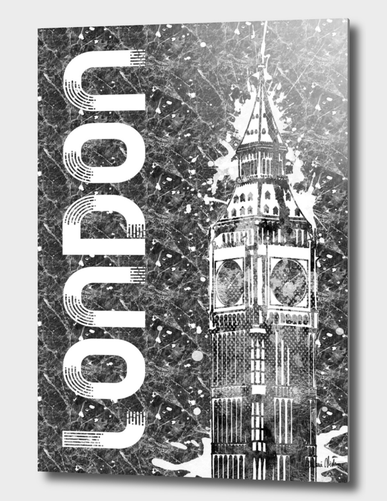 Graphic Art LONDON Big Ben