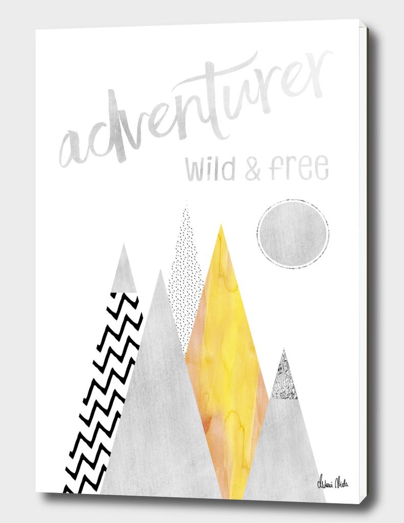 GRAPHIC ART Adventurer - Wild & Free