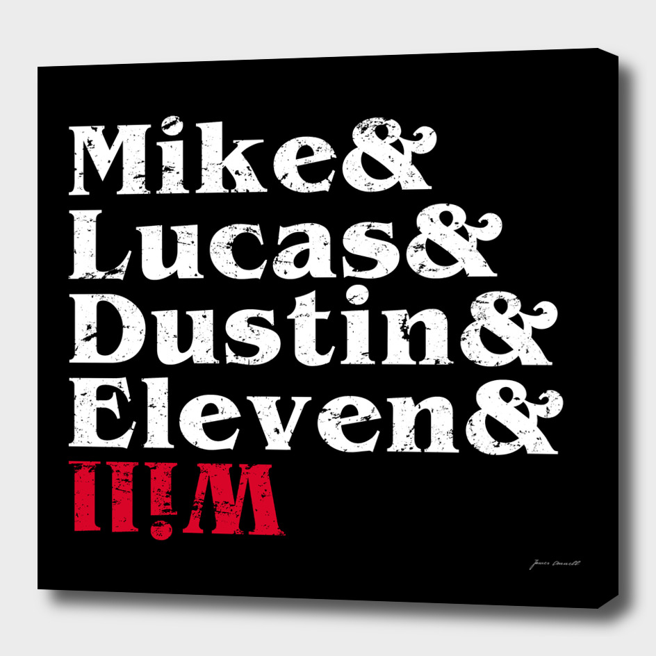Mike, Lucas, Dustin, Eleven & Will