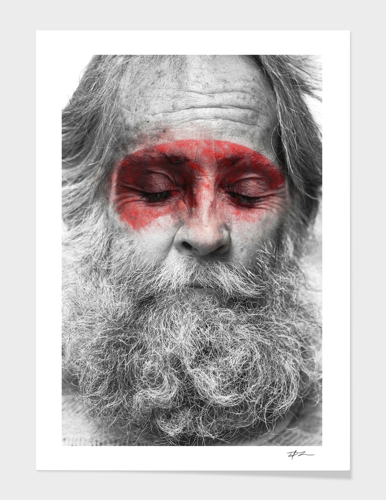 Collage Portrait #1, Red Series