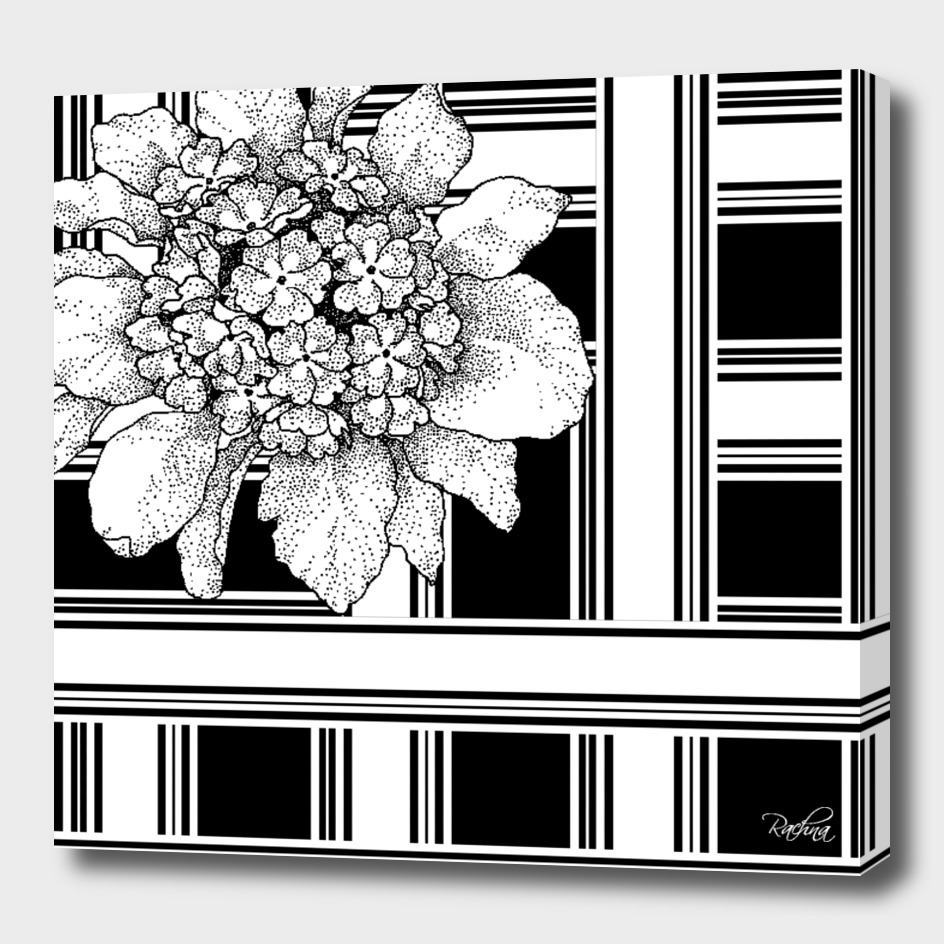 Optical Illusion Floral on Stripes