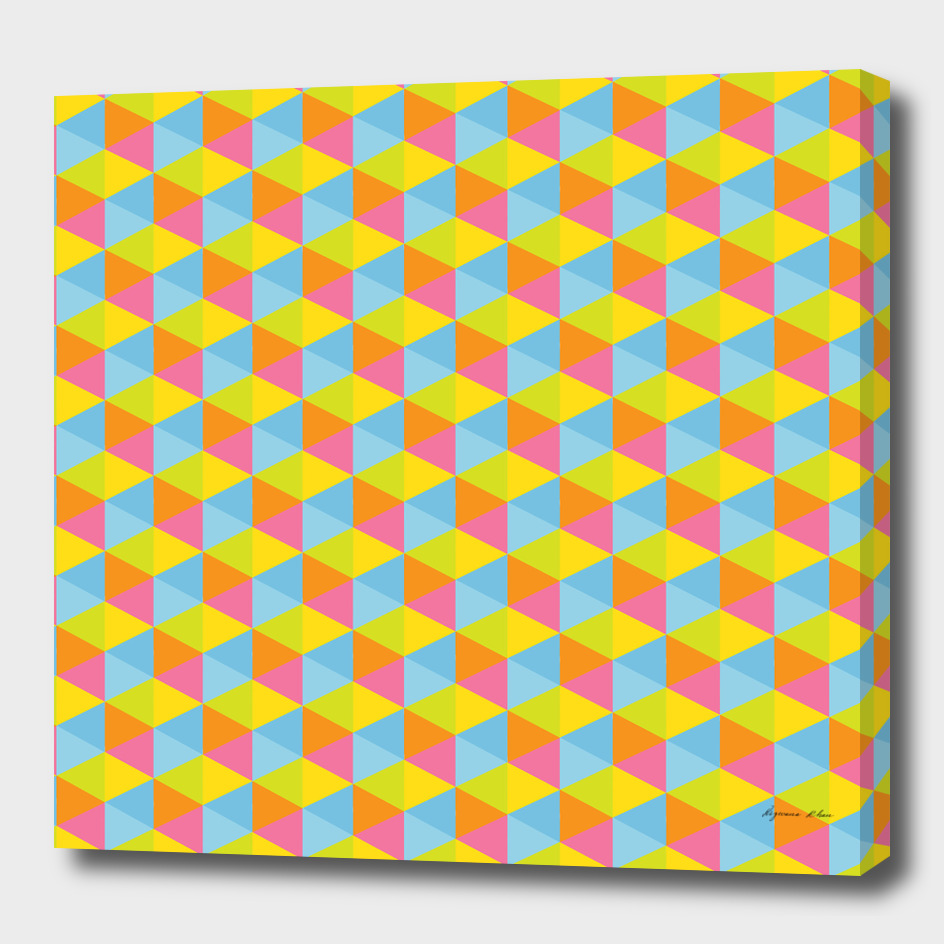 Colourful Hexagon Seamless Pattern