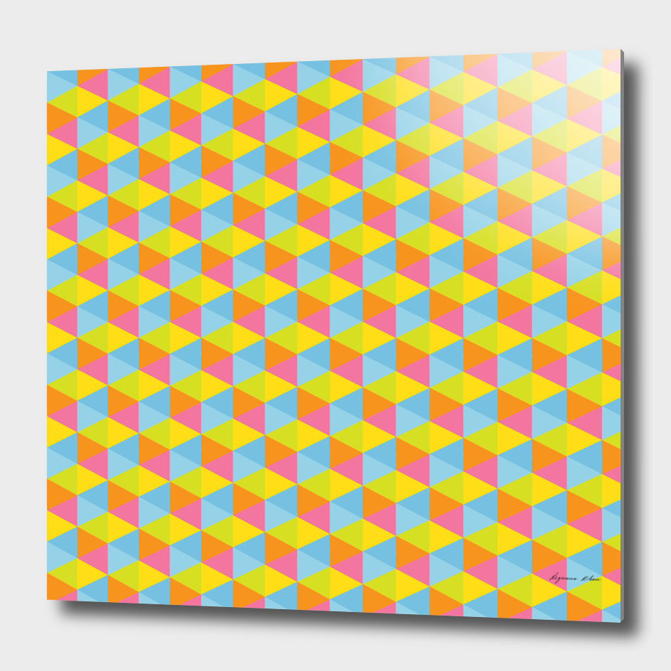Colourful Hexagon Seamless Pattern