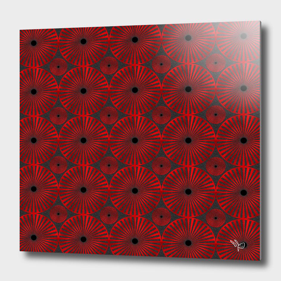 Red Glass Pinwheels
