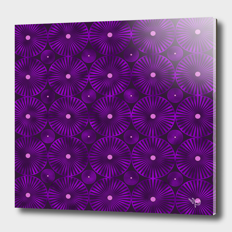 Violet Glass Pinwheels
