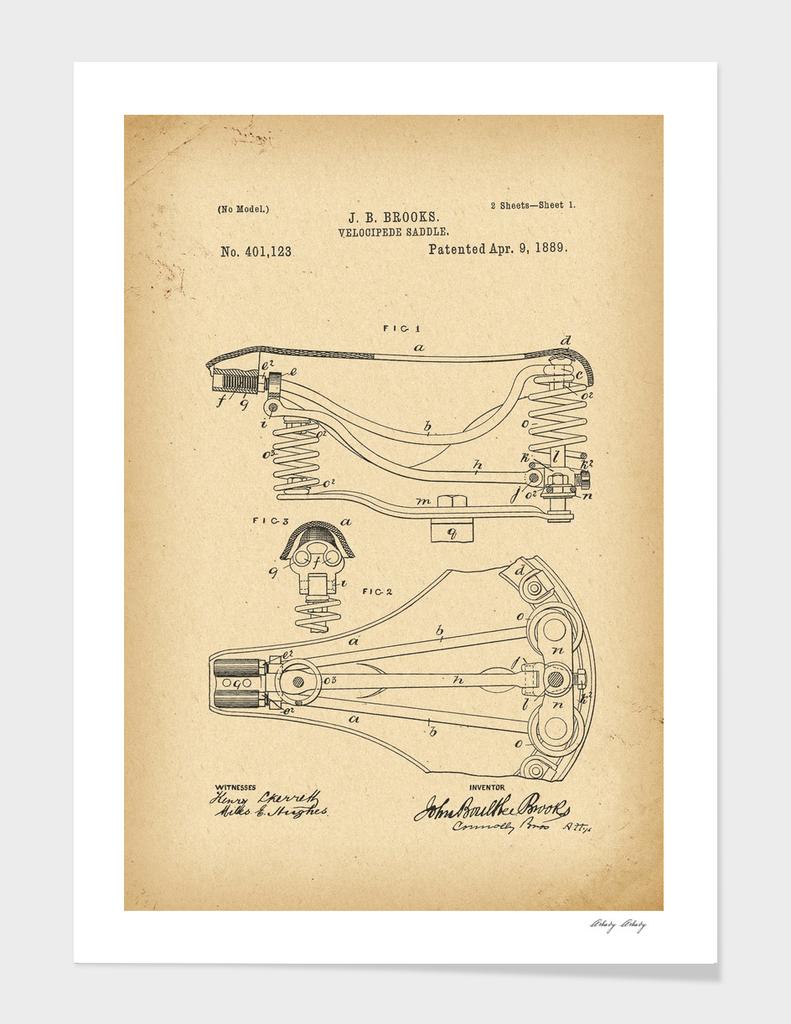 1889 Patent Bicycle saddle