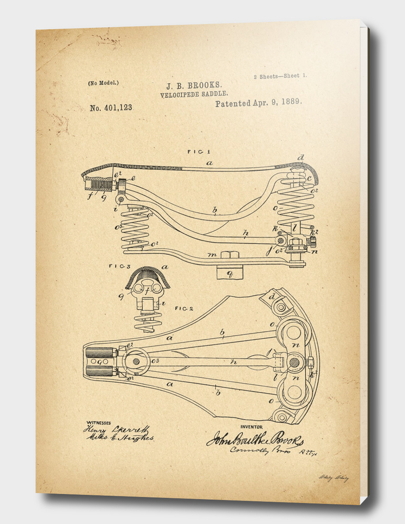 1889 Patent Bicycle saddle