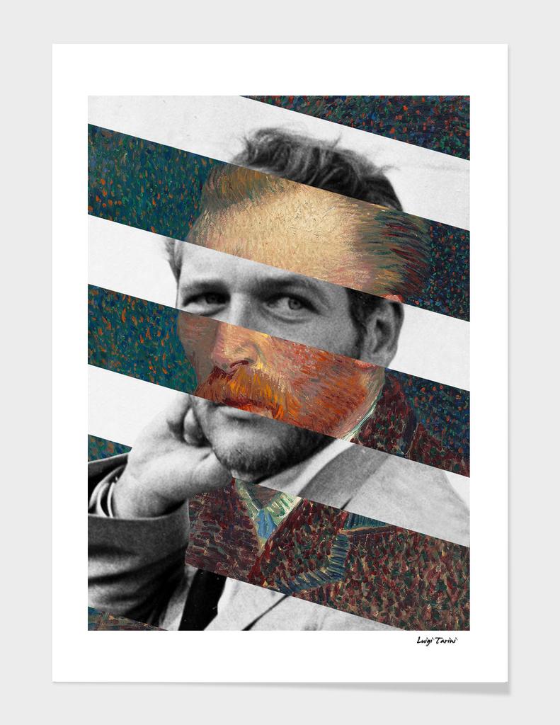 Van Gogh's Self Portrait & Paul Newman
