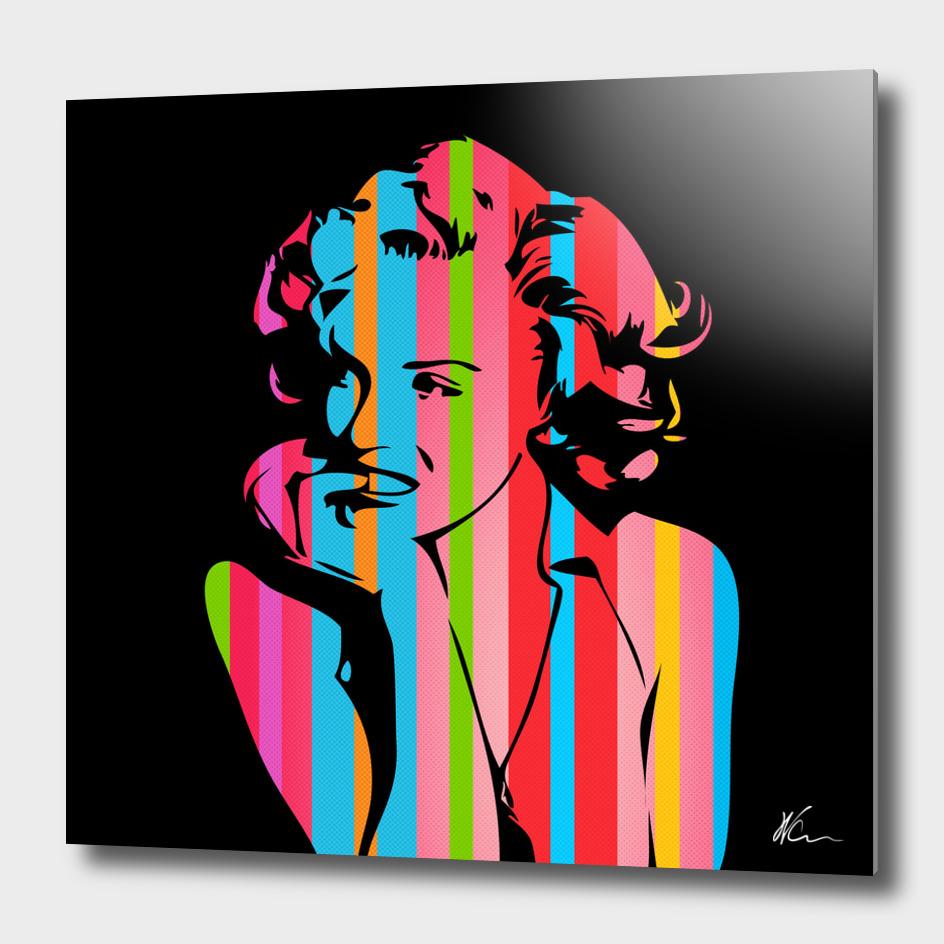 Marilyn Monroe   Dark   Pop Art