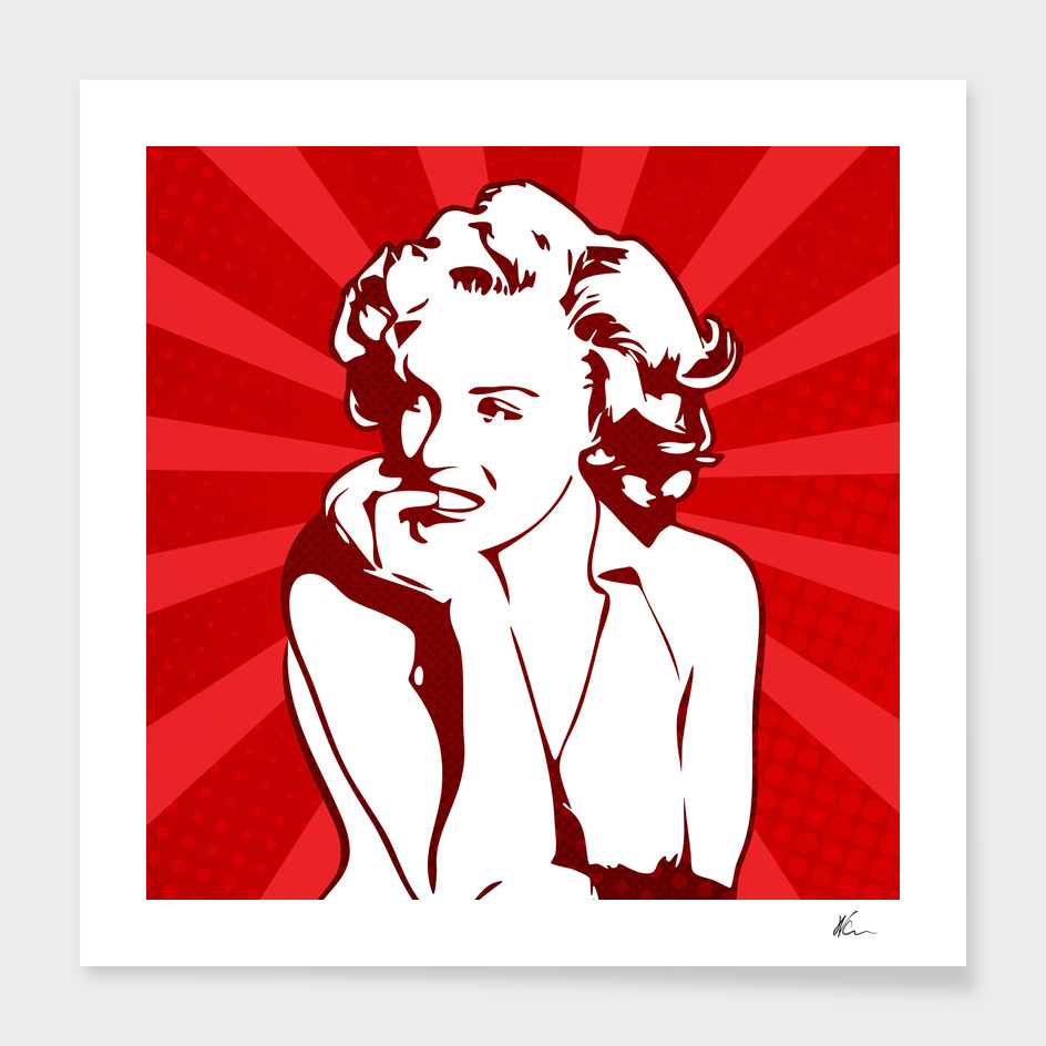 Marilyn Monroe   Red   Pop Art