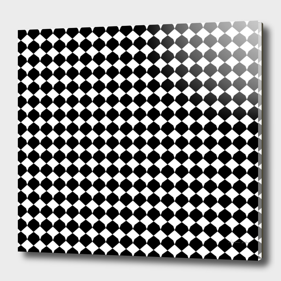 Black & white Diamond Seamless Pattern
